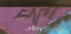 Lune tableau très moderniste signé du grand peintre Frédéric DAVIS 1919-1996