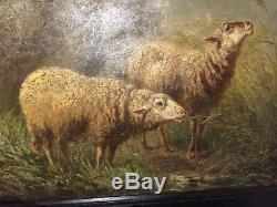 MOUTONS WOUTERMAERTENS Belge 1882 Courtrai barbizon troyon verboeckhoven sheep