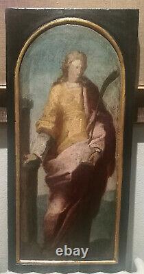 Magnifique Ouevre 16eme Cercle De Domenico Beccafumi (1486-1551) Sainte Barbara