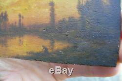 Magnifique petit tableau sur bois Probablement école de barbizon HSB