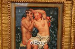 Marcel Lenoir ou jules oury Huile sur bois de 1926 Le couple