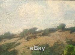 Marcel Parturier, Fenaison, huile sur bois, 57 x 50 cm