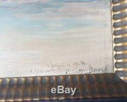 Marine peinture souvenir de Veules XXÈME