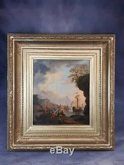 Marine royale française début 19ème hst bois