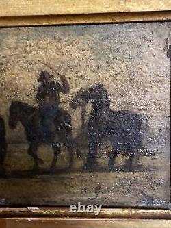 Marius GUINDON (1831-1918). Huile sur Bois