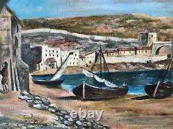 Marseille les Catalans vers 1810 signé A Escobar France