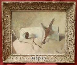 Mary STAFFORD peintre anglais américain tableau nature morte bois flotté plage