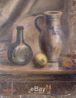 Maud GERARD (1915-2013) Huile sur bois / Ecole belge / 1950 / Fauviste Fauvist
