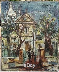 Maurice Empi Peinture Hst Eglise Saint Pierre Place Tertre Sacré Cur Montmartre