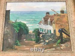 Maurice F. PERROT (1892-1935) Huile Oil original sur panneau de bois signée