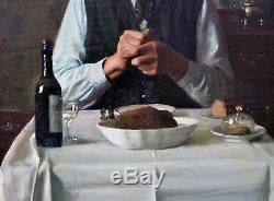 Max BARASCUTS, Portrait, homme, nature morte, tableau, peinture, hammershoi