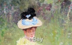 Maxime FAIVRE, tableau, femme, impressionnisme, portrait, Belle époque