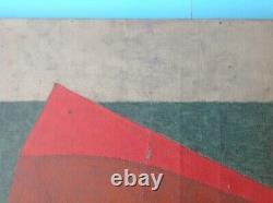 NUMA WALTER RICKENBACHER (1902-1973) Rare Huile HST 58 Constructivisme Cubisme