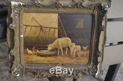N° 1 d une Paire de peinture Ecole Barbizon 19° SIECLE les moutons A de Buncey