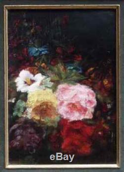 N. Diaz De La Pena 1807-1876. Magnifique & Lumineuse Nature-morte De Fleurs