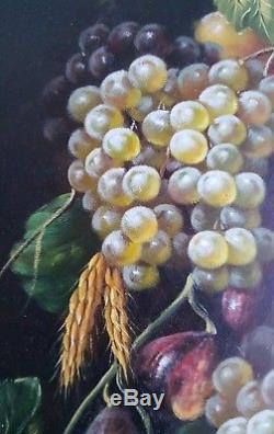 Nature morte aux fruits encadrée