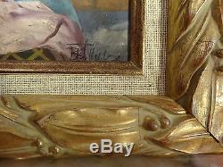 ORIENTALISTE, HUILE SUR BOIS 37 x 28 cm ENCADRE