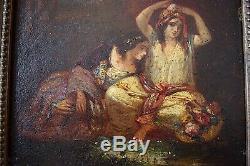 ORIENTALISTE scène de genre femmes turques style DE DIAZ LA PENA XIX 19th