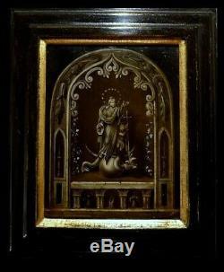 Oil on panel 17th century peinture panneau 17eme Haute Epoque Vierge Christ Mary