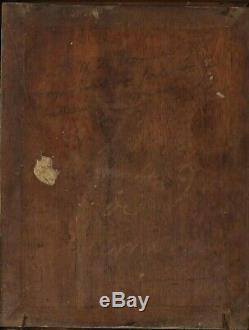 Old Religious Painting Antique Peinture Mother and Child Painting, Angel