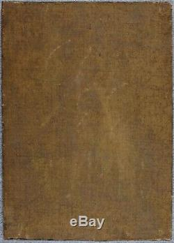 Original 18th century Oil Painting Scene de Genre, Donation to Pan's God