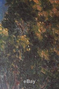 Original Peinture Orientaliste Huile sur Toile Jerusalem 1900 AD
