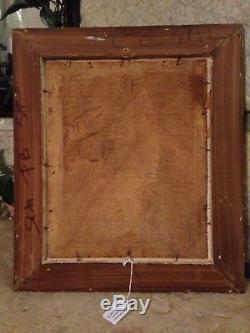 PECHAUBES Peinture huile sur panneau bois Soldat Ier Empire Lancier Militaria