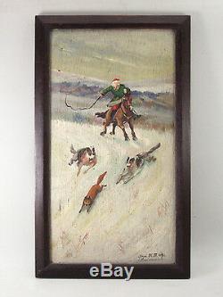 PEINTURE ORIGINALE, K. I. Lodzejskij, Lodzeischi, URSS, 1941, Moldavie, cheval