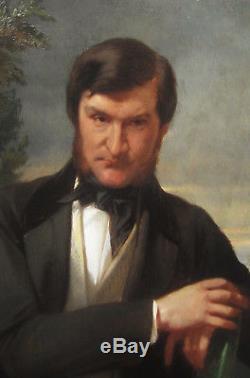 Paire Tableaux Portrait Jeune Homme Restauration Louis Philippe Art Francais