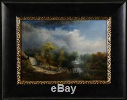 Paire de scènes champêtre, signé Delaroche H. G. Daté de 1834, Ecole Française