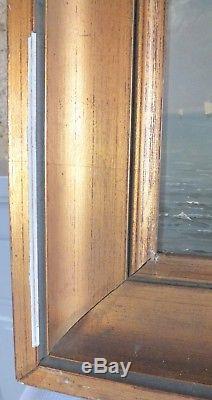 Paire hsp huile sur panneau 19ème marine Coomans peinture tableau