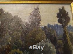 Paires huile sur bois edouard Pail 1851/1916