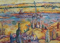 Pat WILSON Huile sur panneau Orientaliste 55 x 46 cm