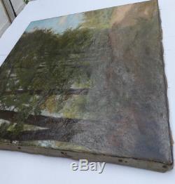 Paul DRUARD 1866 1908 Paysage Sous Bois Huile Sur Toile Signée Barbizon Réalisme