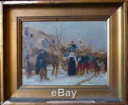 Paul Grolleron (1848-1901), Soeur Saint-Henri esquisse sur panneau, circa 1870