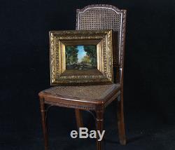 Paysage BARBIZON du 19 ème siècle, sur bois