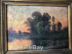 Paysage, huile sur panneau, epoque XIXE