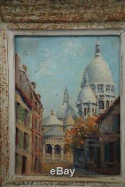 Peinture A L' Huile Sur Panneau Bois Signe Didier Sayet Cadre Ceruse