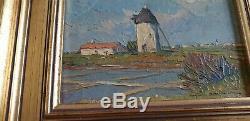 Peinture De Christian Couillaud Ars En Re Ile De Re Huile Sur Bois Encadre 15 CM