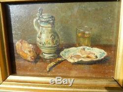 Peinture Nature morte à la chope bleue François-Adolphe GRISON (1845-1914)