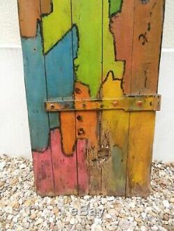 Peinture Tableau Art Brut Porte Peinte
