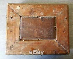 Peinture Tableau Marine Bateau Navire, huile sur bois XIX° cadre doré