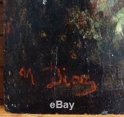 Peinture école de Barbizon signée Narcisse DIAZ De La PENA (1807-1876)