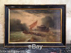 Peinture ecole hollandaise du XIX sur bois dans le gout de thomas heeremans