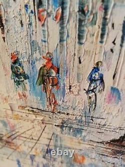 Peinture huile sur panneau bois signée Caroline C. Burnett