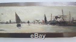 Peinture marine. Marine painting dans le style d'Eugène BOUDIN