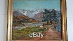 Peinture orientaliste. Painting signed Raphaël PINATEL (1875-1933) Asni MAROC