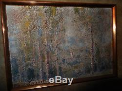 Peinture tableau PAUL BOCQUET impressionnisme paysage Champagne