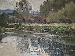 Petit Tableau Ancien Huile Paysage Arbres Ecole Barbizon VAN WAEYENBERGE 1905