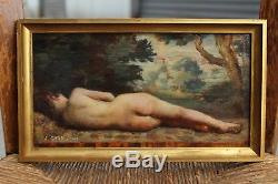 Petite peinture nu femme 1886, Jules Cavé (1859-1946)